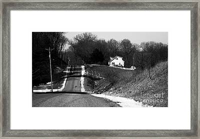Hilly House Framed Print by Charlie Spear