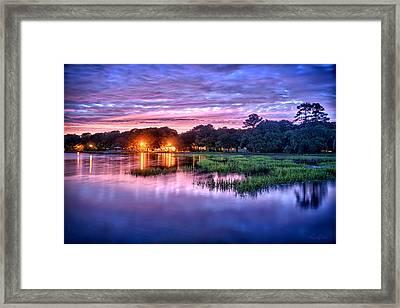 Hilton Head Evening Marsh Framed Print by Renee Sullivan