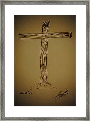 Him Alone Framed Print