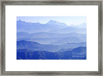 Framed Print featuring the photograph Hima-layers by Jacqi Elmslie