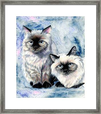 Himalayan Duo Framed Print by Sherry Shipley