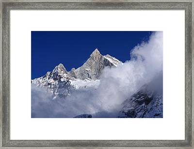 Machhapuchchhre Mountain Peak Framed Print