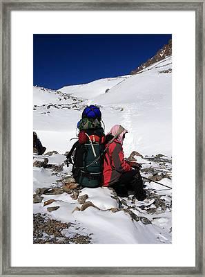Himalayan Porter, Nepal Framed Print by Aidan Moran