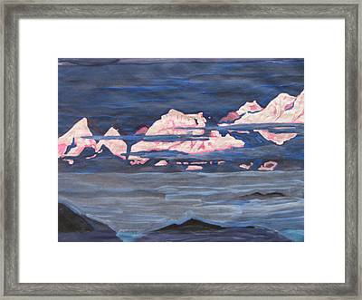 Framed Print featuring the painting Himalayas Of India by Vikram Singh