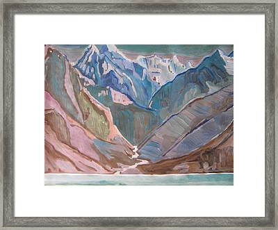 Framed Print featuring the painting Himalayas by Vikram Singh
