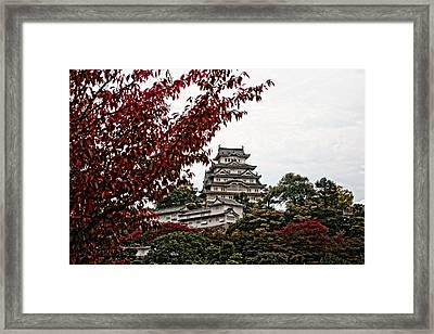 Himeji Castle In The Fall Framed Print