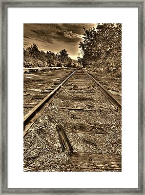 Hinckley Railroad Framed Print by Amanda Stadther