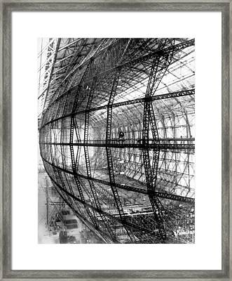 Hindenburg Construction Framed Print by Underwood Archives