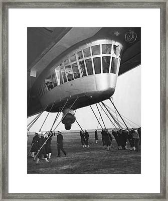 Hindenburg Control Room Framed Print by Underwood Archives