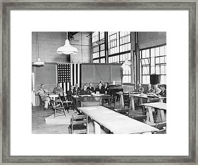 Hindenburg Disaster Investigation Framed Print by Us Navy