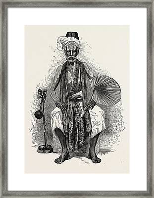 Hindoo Religious Mendicant, India.  The Term Mendicant Framed Print by English School