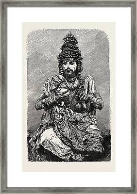 Hindoo Religious Mendicant. The Term Mendicant Refers Framed Print by English School