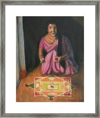 Hindu Celebration Framed Print by Suzanne  Marie Leclair