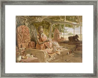 Hindu Fakir, From India Ancient Framed Print by William 'Crimea' Simpson