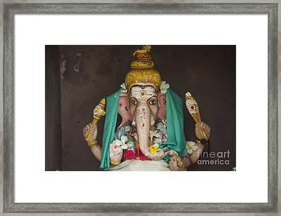 Hindu God Ganesh Framed Print by Patricia Hofmeester