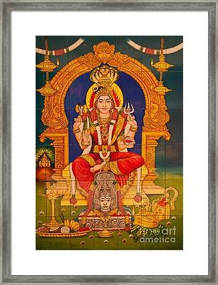 Hindu God Framed Print by Niphon Chanthana
