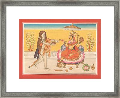 Hindu Goddess Annapurna God Shiva Yoga Yogi Hindu Art Gallery India Framed Print by A K Mundhra