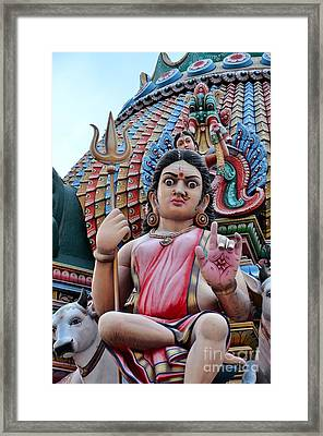 Hindu Goddess At Colorful Temple Framed Print by Imran Ahmed