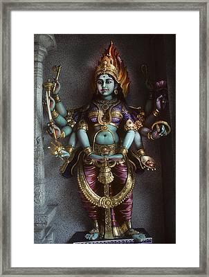 Hindu Goddess Bhairavi Framed Print by Carl Purcell