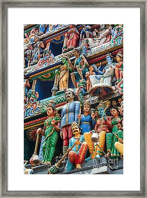 Hindu Goddess Framed Print by Niphon Chanthana