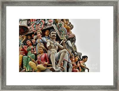 Hindu Gods And Goddesses At Temple Framed Print by Imran Ahmed