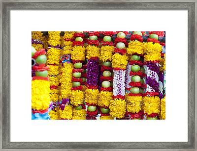 Hindu Offerings  Framed Print by Alexey Stiop
