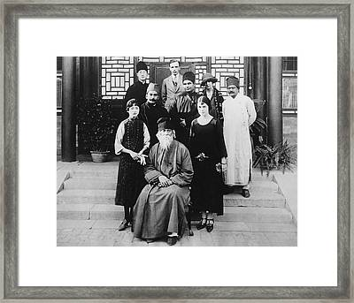 Hindu Rabindranath Tagore Framed Print by Underwood Archives