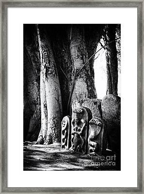 Hindu Shrine Framed Print by Tim Gainey