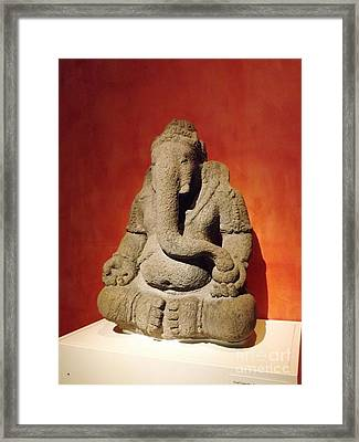 Hindu Statue God Ganesha Framed Print