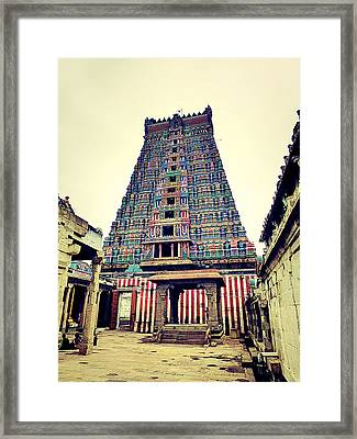 Hindu Temple Framed Print by Girish J
