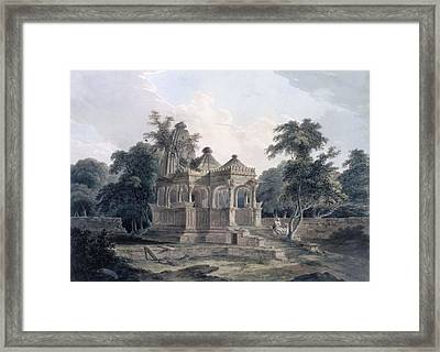 Hindu Temple In The Fort Of The Rohtas Framed Print by Thomas & William Daniell