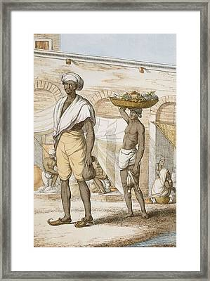 Hindu Valet Or Buyer Of Food, From The Framed Print by Franz Balthazar Solvyns