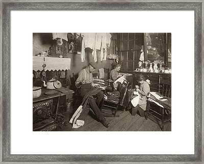 Hine Home Industry, 1913 Framed Print by Granger