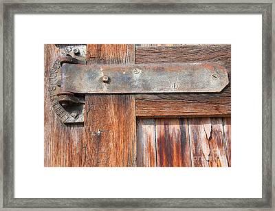 Hinge Door  Framed Print by Minnie Lippiatt