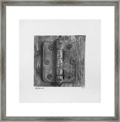Hinge Temporality  Framed Print by Sarah Sutherland
