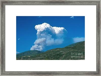 Hinman Fire Framed Print