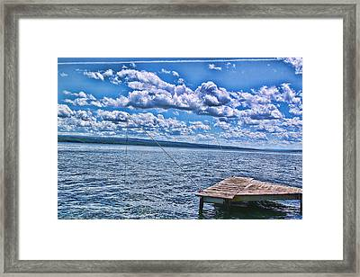 Hint Of Fall In The Clouds Framed Print