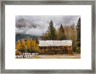 Hint Of Winter Framed Print by Mark Kiver