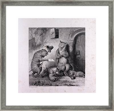 Hintze As Messenger Framed Print by English School
