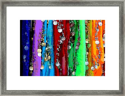 Hip Scarf Heaven Framed Print by April Wietrecki Green