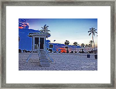 Hippie Beach Framed Print by Alison Tomich