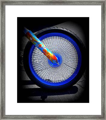 Framed Print featuring the photograph Hippie Bike by Laurie Perry
