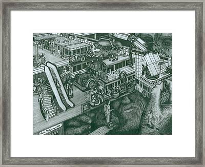 Hippie Bus Apartments Framed Print by Richie Montgomery