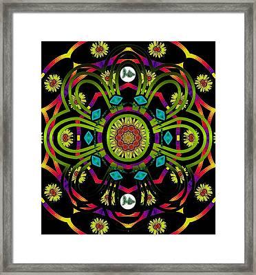 Hippie Mandala Framed Print