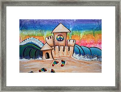 Hippie Sand Castle Framed Print by Laura Barbosa