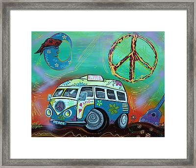 Hippie Trip Framed Print