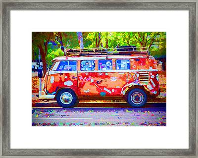 Framed Print featuring the photograph Hippie Van by Jaki Miller