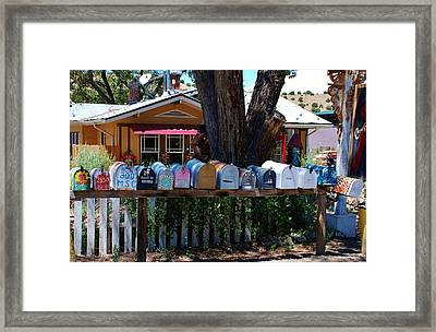 Hippies Mailboxes Framed Print