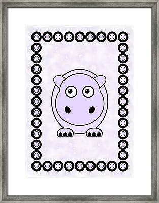 Hippo - Animals - Art For Kids Framed Print