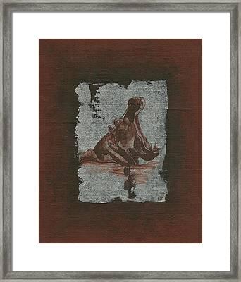 Hippo Framed Print